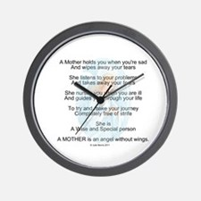 Mother's day poem Wall Clock