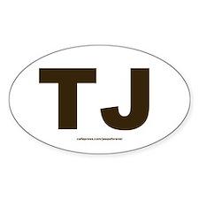TJ Jeep Wrangler oval sticker