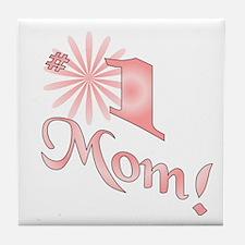 Number one mom Tile Coaster