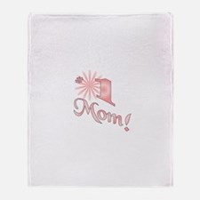 Number one mom Throw Blanket