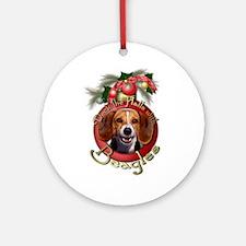 Christmas - Deck the Halls - Beagles Ornament (Rou