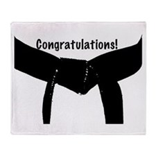 Black Belt Congrats Throw Blanket