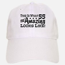 Funny 55th Birthday Baseball Baseball Cap