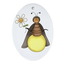 Funny Firefly With Daisy Ornament (Oval)