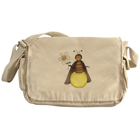 Funny Firefly With Daisy Messenger Bag