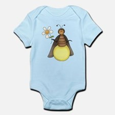 Funny Firefly With Daisy Infant Bodysuit