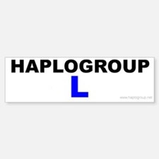Haplogroup L Bumper Bumper Bumper Sticker
