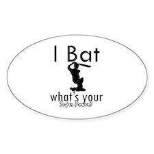 I Bat Stickers