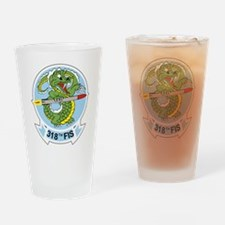 318th FIS Drinking Glass