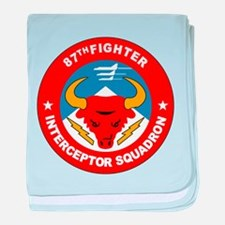 87th Interceptor Squadron baby blanket