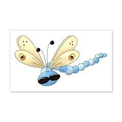 Cool Blue Dragonfly 22x14 Wall Peel