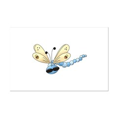 Cool Blue Dragonfly Posters