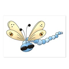 Cool Blue Dragonfly Postcards (Package of 8)