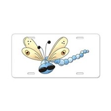 Cool Blue Dragonfly Aluminum License Plate