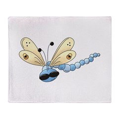 Cool Blue Dragonfly Throw Blanket
