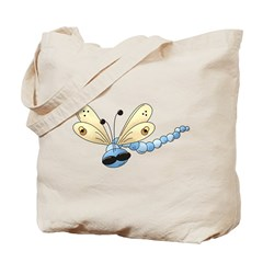 Cool Blue Dragonfly Tote Bag