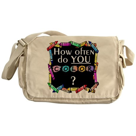 SATC How Often Do You Color Messenger Bag