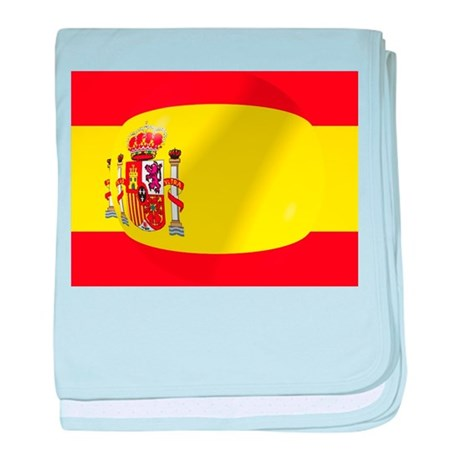 Spanish Flag With Bubble baby blanket