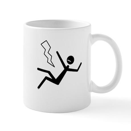 Moustache Man in Peril Lightning Mug