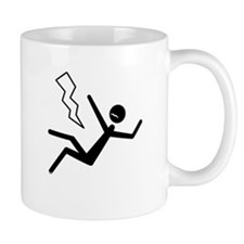 Moustache Man in Peril Lightning Mug