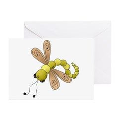 Adorable Green Dragonfly Greeting Cards (Pk of 10)