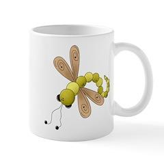 Adorable Green Dragonfly Mug