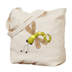 Adorable Green Dragonfly Tote Bag