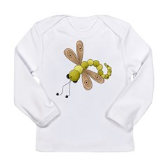 Adorable Green Dragonfly Long Sleeve Infant T-Shir