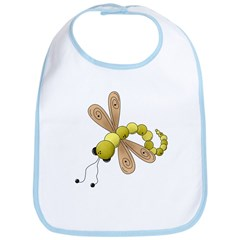 Adorable Green Dragonfly Bib