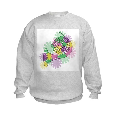 Flower Power Horn Kids Sweatshirt