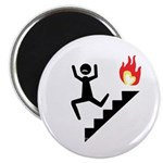 Moustache Man in Peril fire Magnet