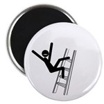 Moustache Man in Peril ladder Magnet