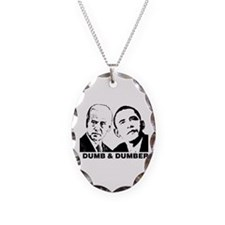 Cute Anti obama Necklace Oval Charm