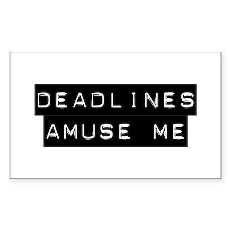 Deadlines Sticker (Rectangle)