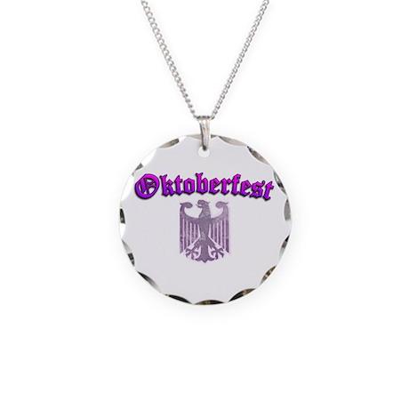 Oktoberfest German Deutsch W Necklace Circle Charm
