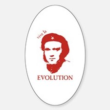 Viva Darwin Evolution! Sticker (Oval)