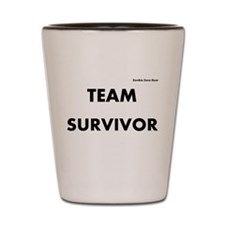 Zombie Team Survivor Shot Glass