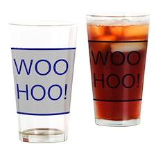 Woo-Hoo Blue Drinking Glass