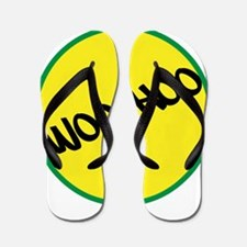 Woo-Hoo Yellow Flip Flops