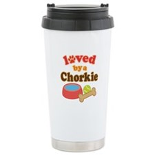 Chorkie Dog Gift Travel Mug