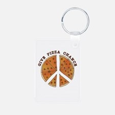 Give Pizza Chance Keychains