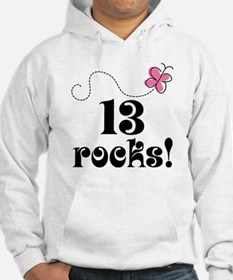13th Birthday Butterfly Hoodie
