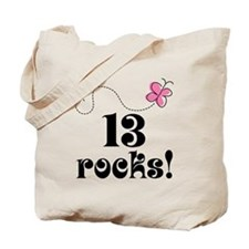 13th Birthday Butterfly Tote Bag