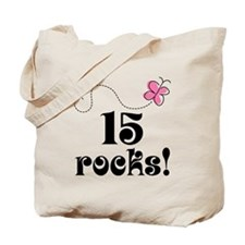 15th Birthday Butterfly Tote Bag