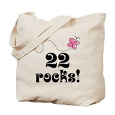 22nd Birthday Butterfly Tote Bag