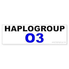 Haplogroup O3 Bumper Bumper Sticker