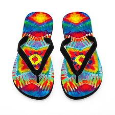 Colorful Tie-Dye Flip Flops