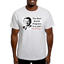 """""""Reagan: Get A Job!"""" T-Shirt"""