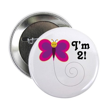 "2nd Birthday Girls 2.25"" Button"