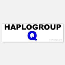 Haplogroup Q Bumper Bumper Bumper Sticker